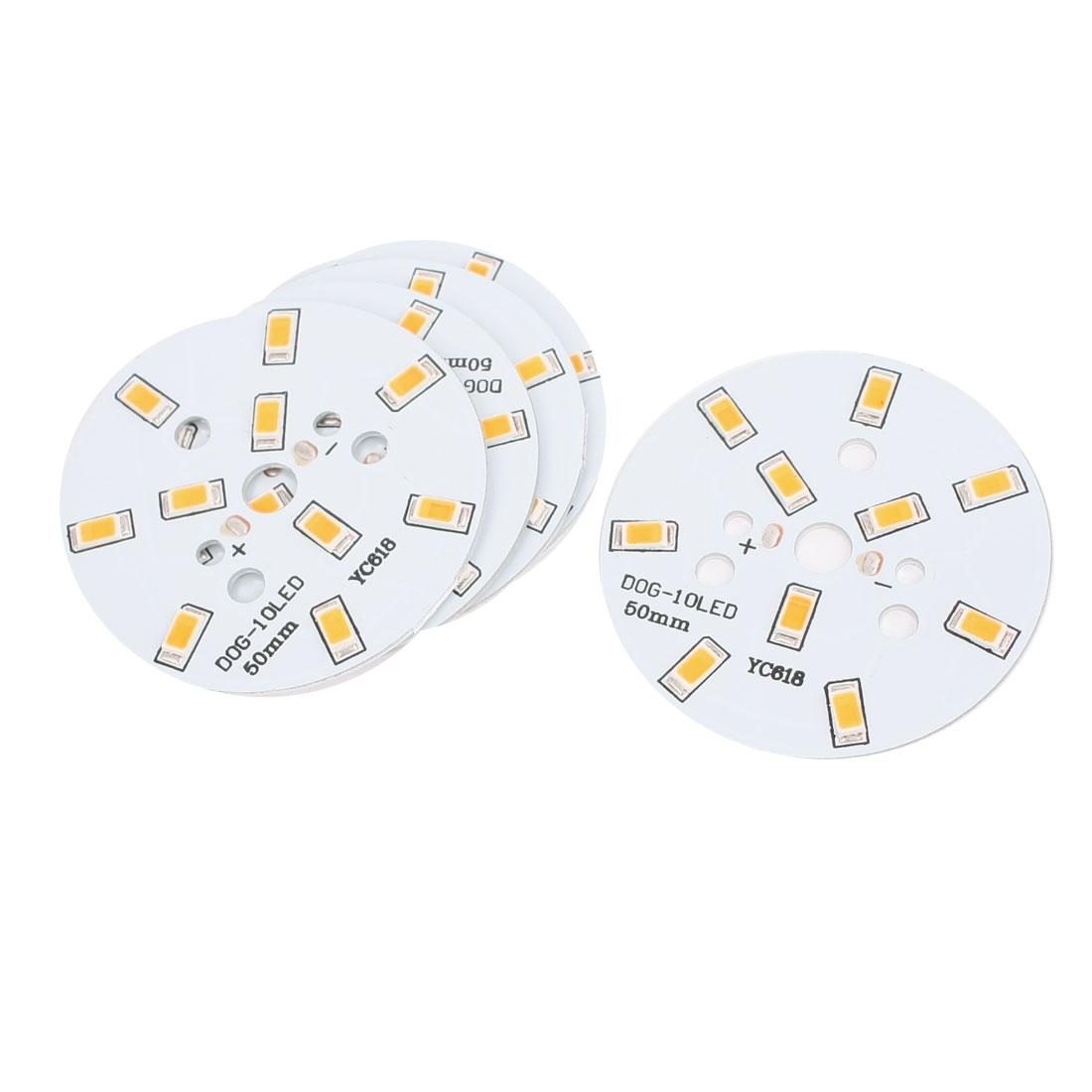 5 Pcs 5W Warm White SMD 5630 10 LED Spot Light Aluminum Base Board Heat Sink