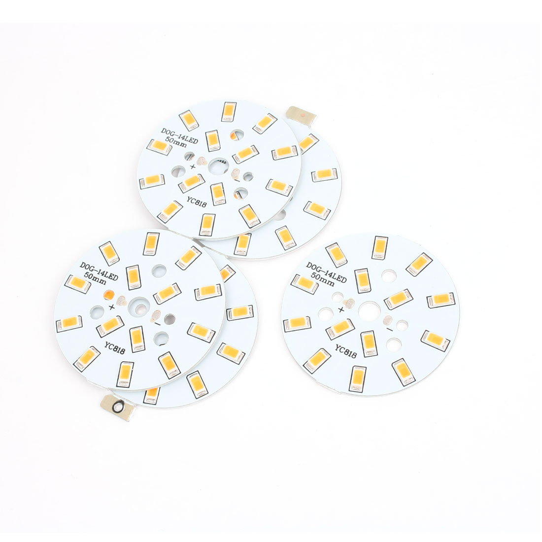 5 Pcs 7W Warm White SMD 5630 14-LED Spotlight Aluminum Base Plate 50mm Dia