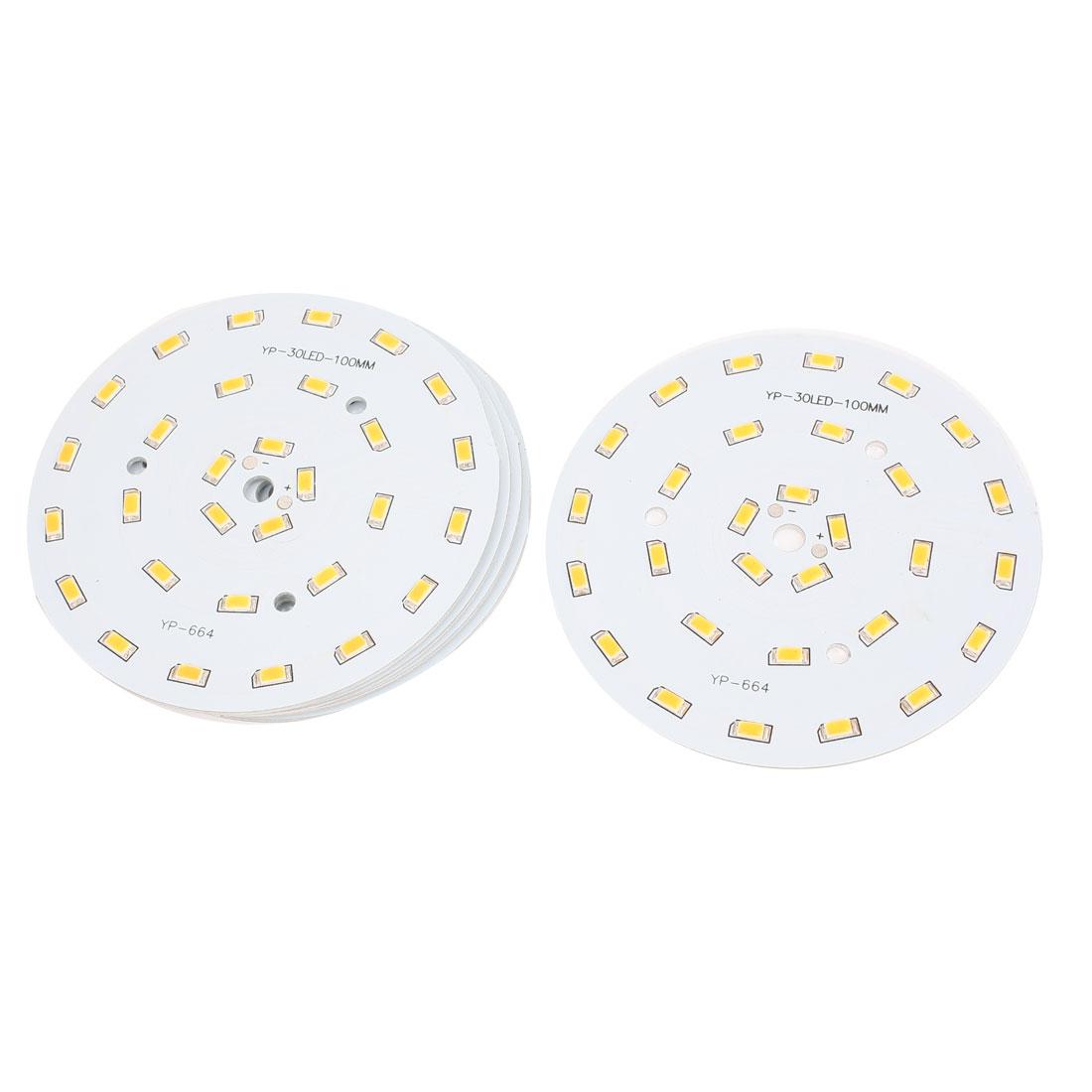 15W Warm White 30 SMD 5630 LED Light Downlight Aluminum Heatsink Base Plate 5pcs
