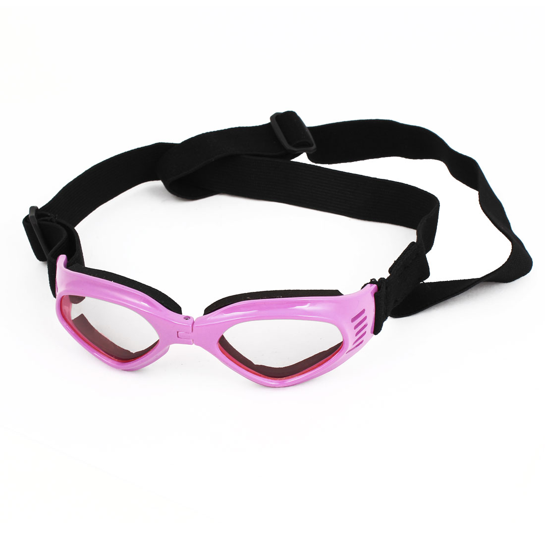 Adjustable Band Fuchsia Foldable Frame Pet Dog Puppy Eye Protective Sunglasses Goggles