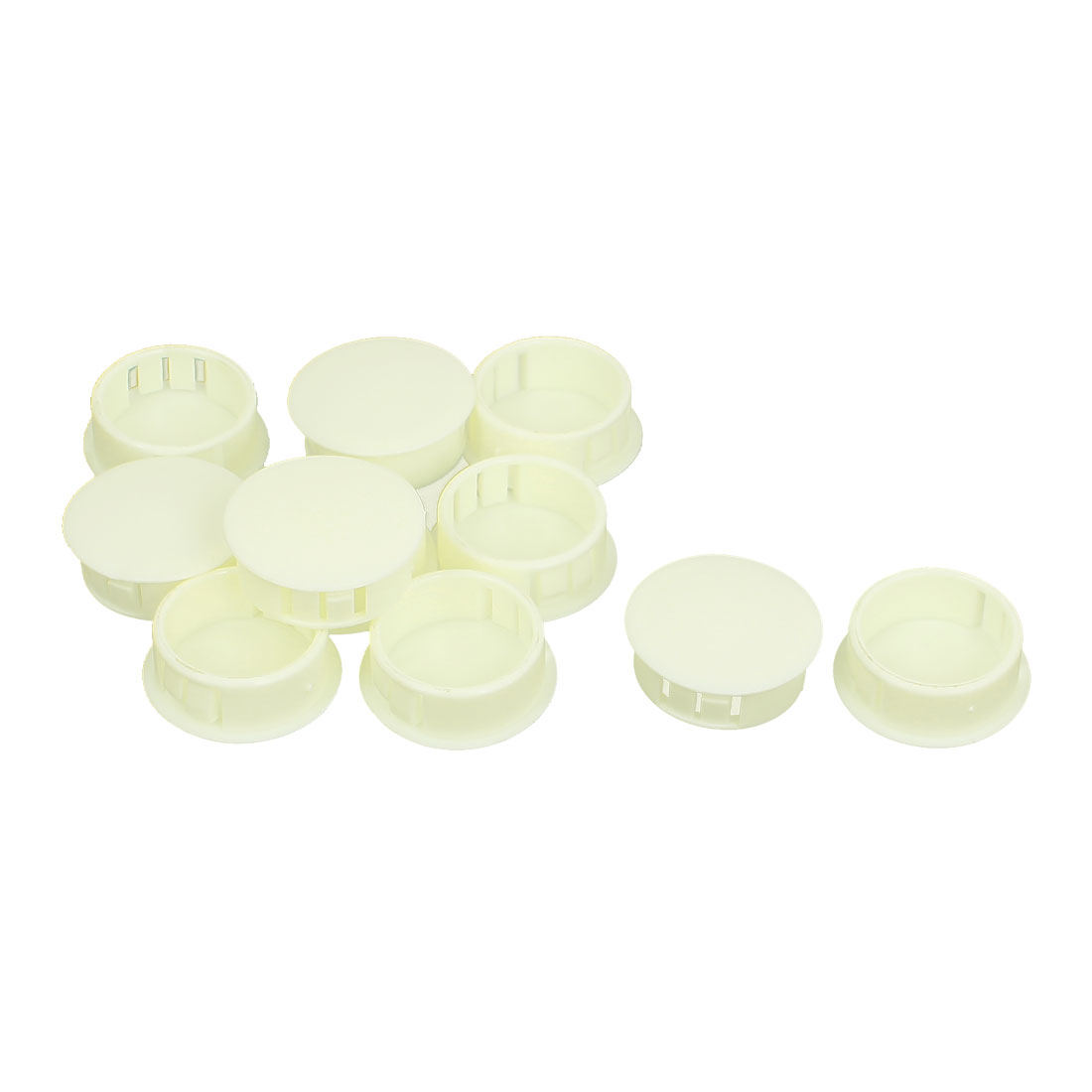 10Pcs SKT-25 24.7mm Insulated Off White Plastic Snap in Mount Domed Blank Lock Hole Cover Harness Fastener