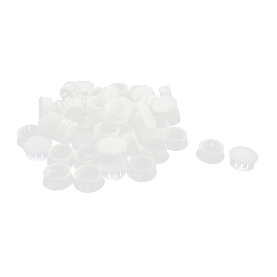 50 Pcs SKT-22 22.1mm Insulated White Plastic Snap in Mounting Locking Hole Harness Fastener Cover