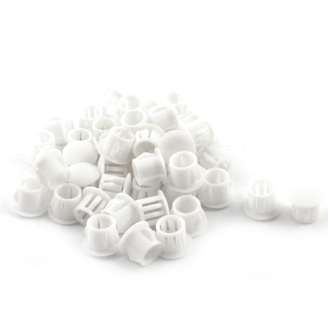 50 Pcs SKT-10 Insulated White Plastic Snap in Mounting Locking Hole Plug Harness Fastener Cover 9.5mm Dia