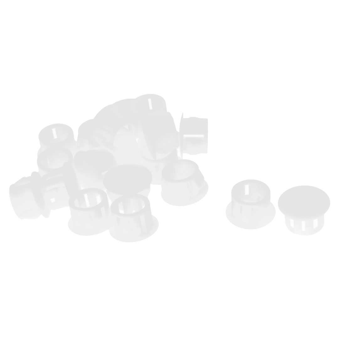 20Pcs SKT-13 Insulated White Plastic Snap in Mounting Locking Hole Plug Harness Fastener Cover 12.7mm Dia
