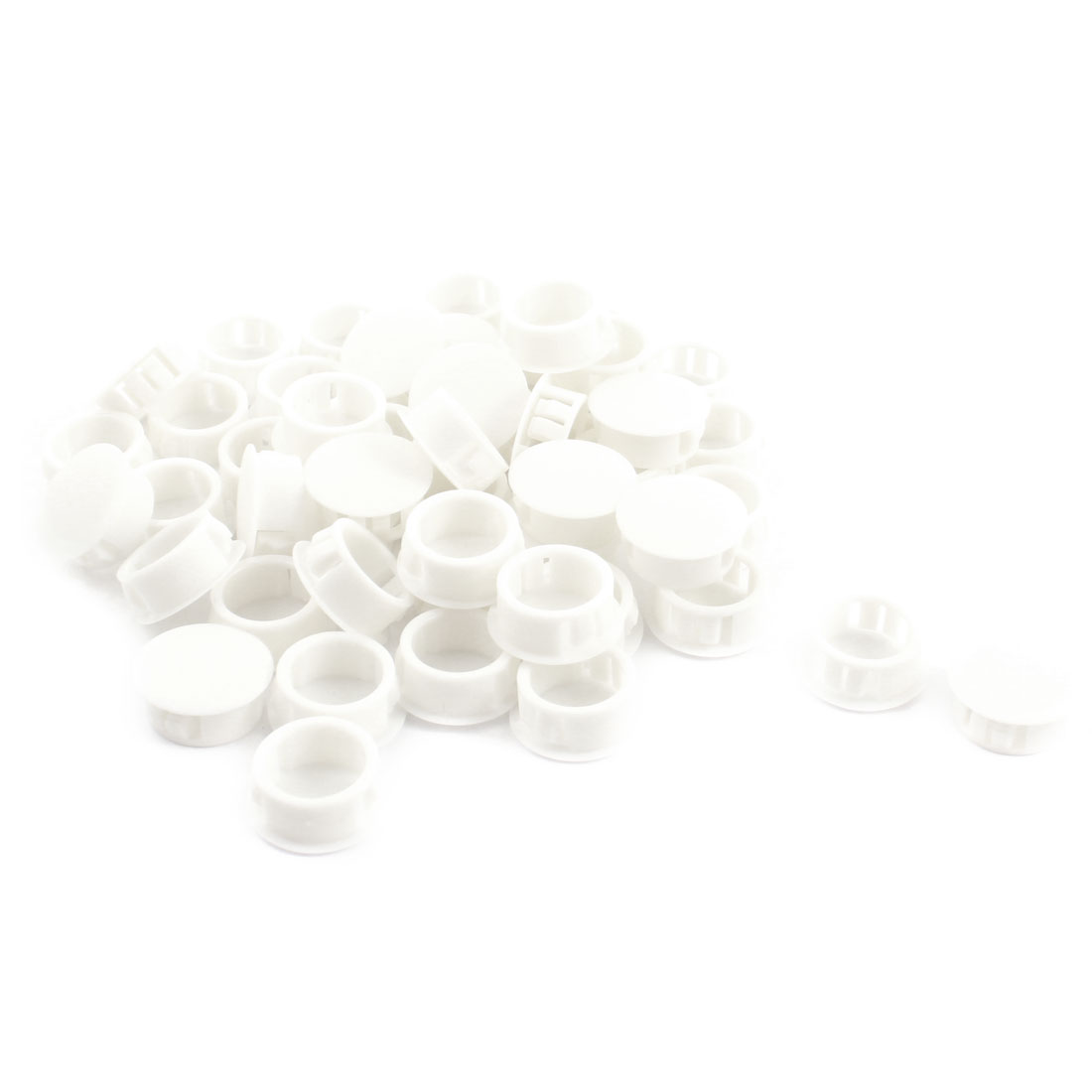 50 Pcs SKT-20 20.1mm Insulated White Plastic Snap in Mounting Locking Hole Cover Harness Fastener