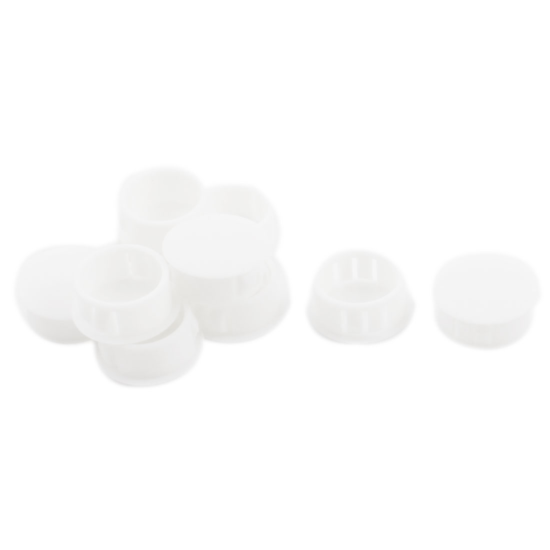 10Pcs SKT-22 Insulated White Plastic Snap in Mount Blank Locking Hole Cover Harness Fastener 22.1mm