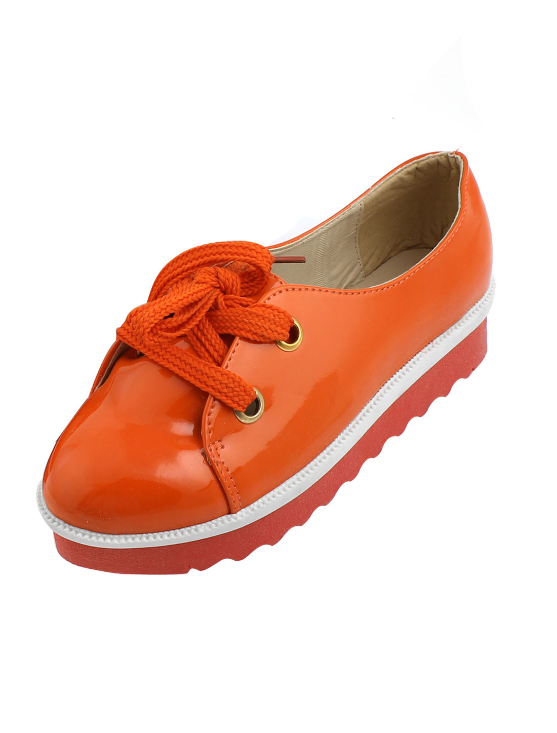 Women Orange Patent Leather Sperry Top-Sider Boat Shoes Size US 7.5