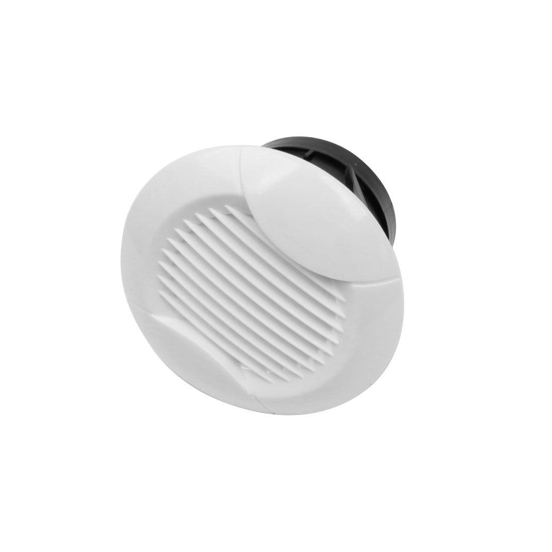 115mm Dia Panel Circle Air Vent Outlet Straight Louver Ventilation Grille Cover Flange for 75mm Round Ducting