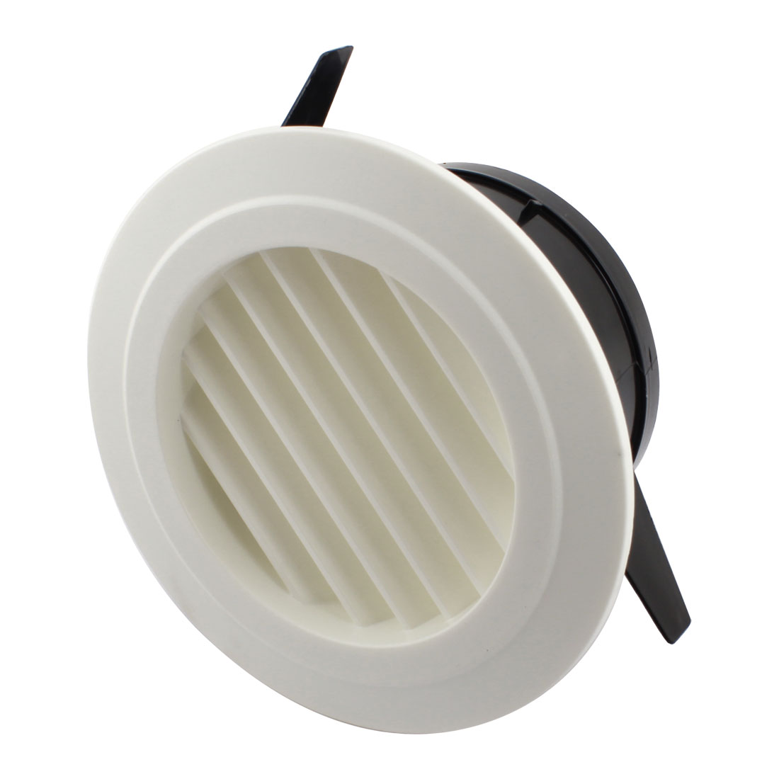 125mm Mounting Dia Circle Air Vent Grille Outlet Louver Ventilation Cover Flange w Filter