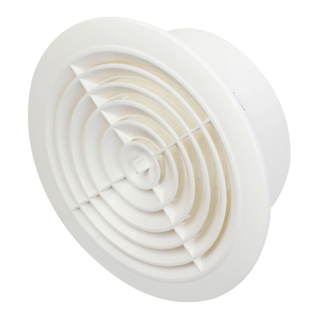 200mm Mounting Dia Adjustable Circle Air Vent Grill Outlet Ventilation Cover Flange White