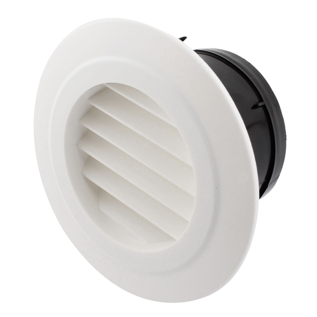 100mm Mounting Dia Circle Air Vent Outlet Louver Ventilation Grill Cover Flange w Filter
