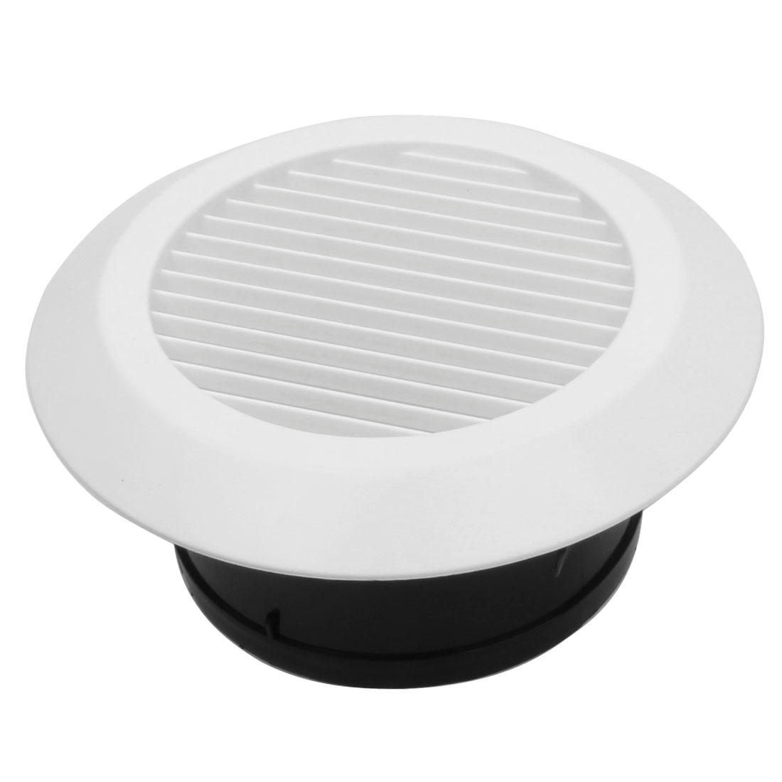 150mm Mounting Dia Round Air Vent Outlet Straight Louver Ventilation Grill Cover Flange