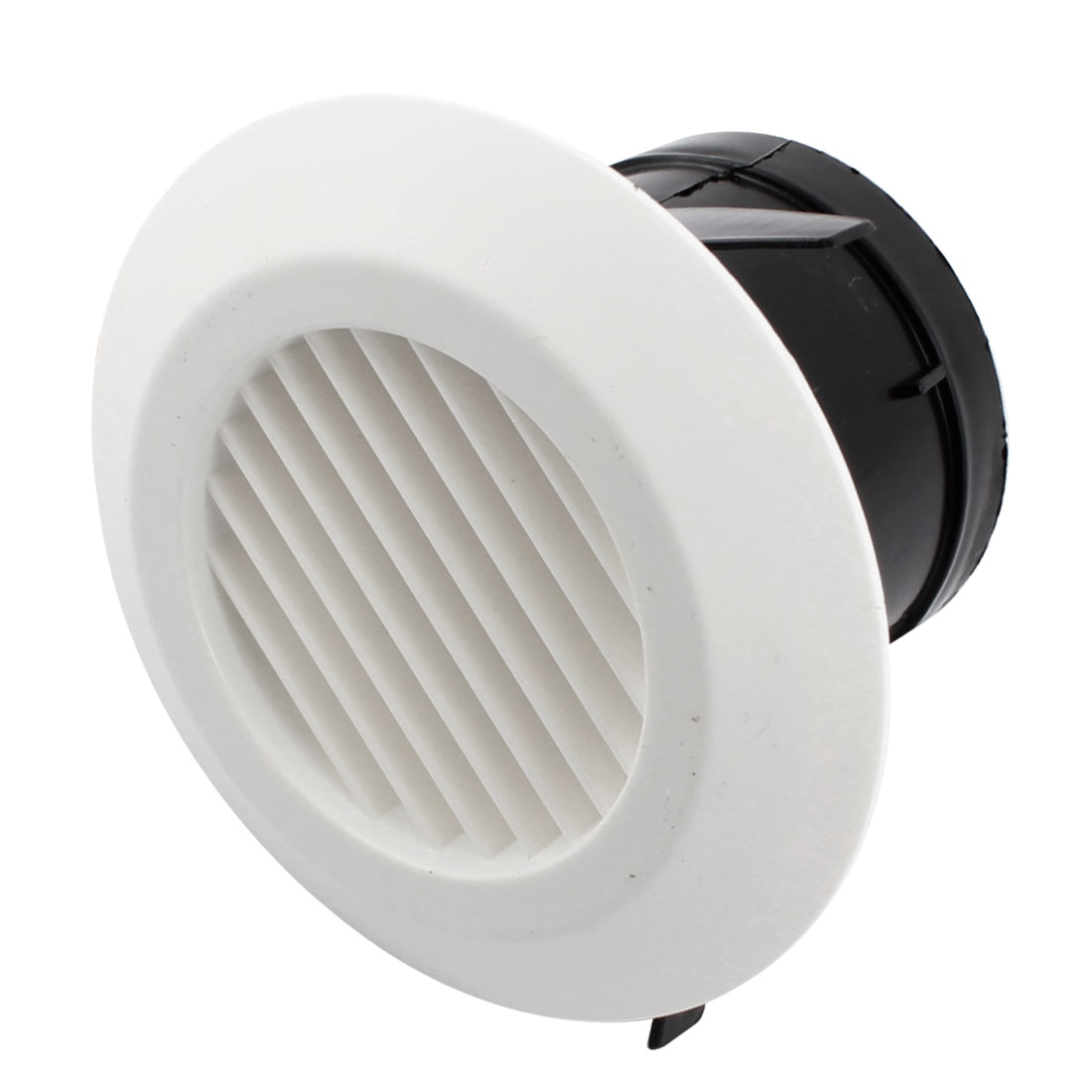 75mm Round Ducting Circle Air Vent Grill Outlet Straight Louver Ventilation Cover Flange