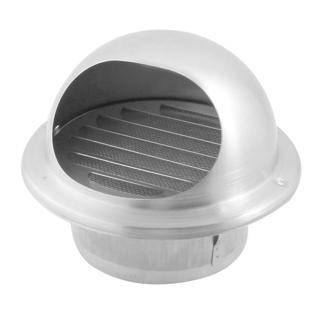 Kitchen Roof Extractor Fan 304 Grade Stainless Steel Air Vent Outlet Grill w Mesh Louver for 100mm Dia Ducting