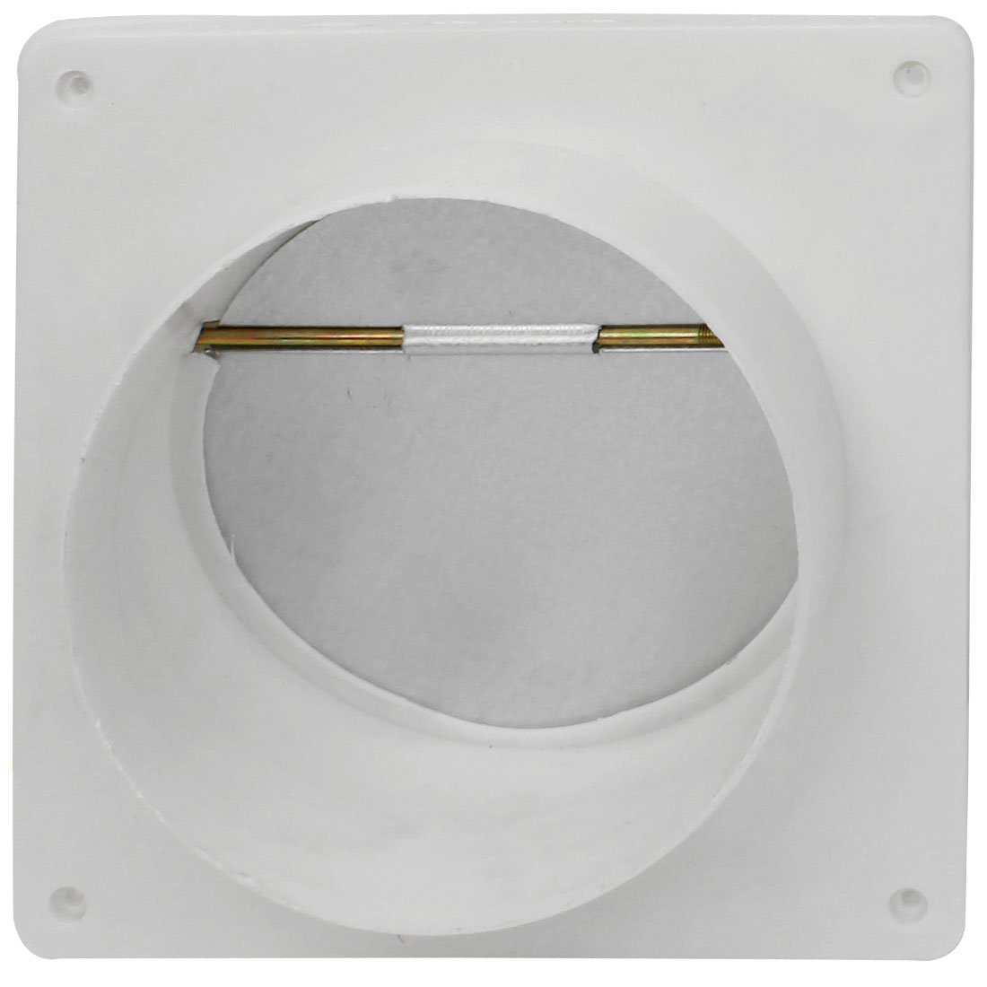 15cm Dia Round Mouth 20x20mm Square Plastic Frame One Way Exhaust Fan Air Outlet