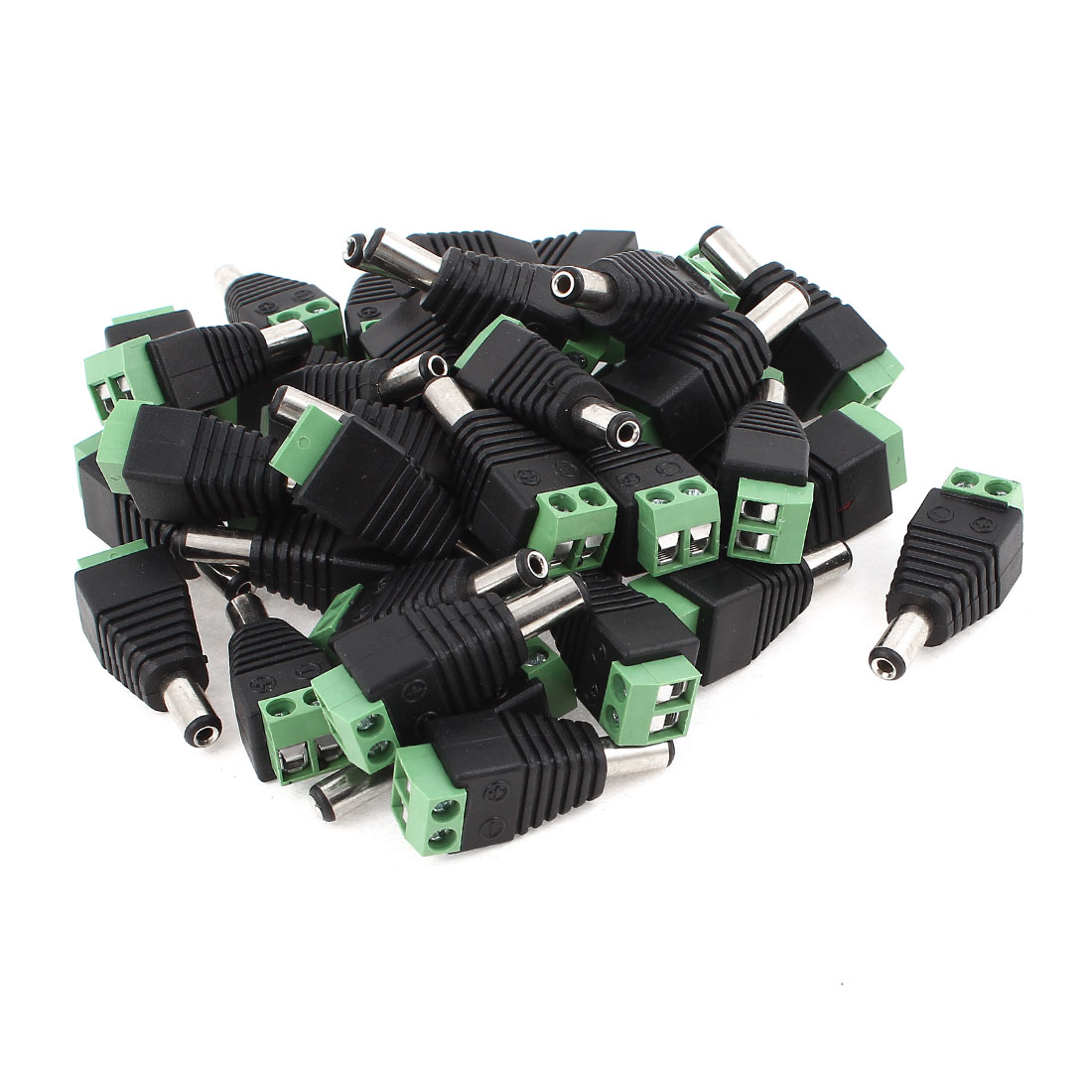 40 Pcs 2.1 x 5.5mm DC Power Male Plug Connector for CCTV Camera