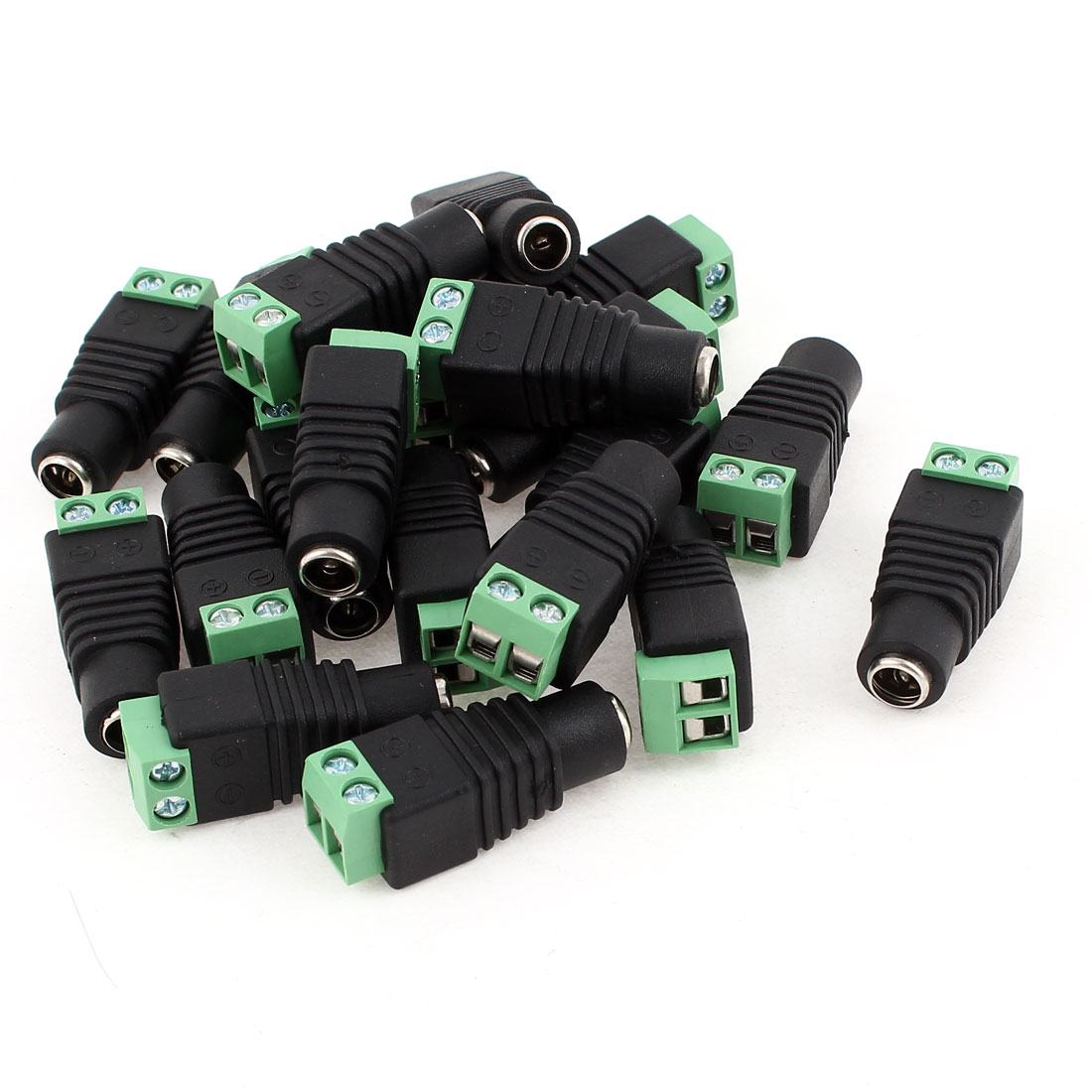 20Pcs DC Power Connector Female Plug Jack Adapter 2.1 x 5.5 mm for CCTV Camera