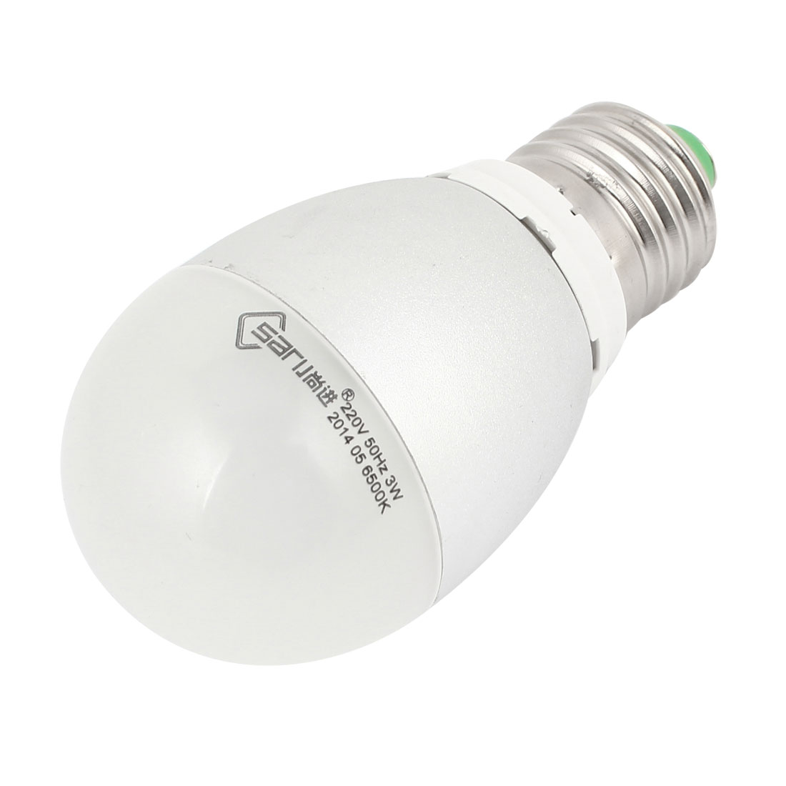Home E26 Energy Saving LED Globe Ball Pure White Light Lamp Bulb AC 220V 3W