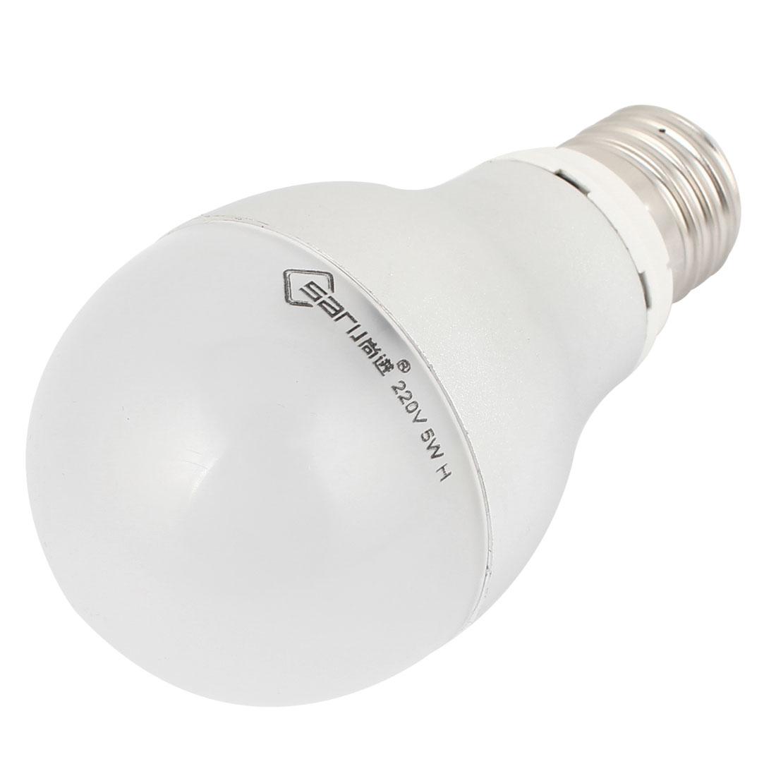 Home E26 Energy Saving LED Globe Ball Warm White Light Lamp Bulb AC 220V 5W