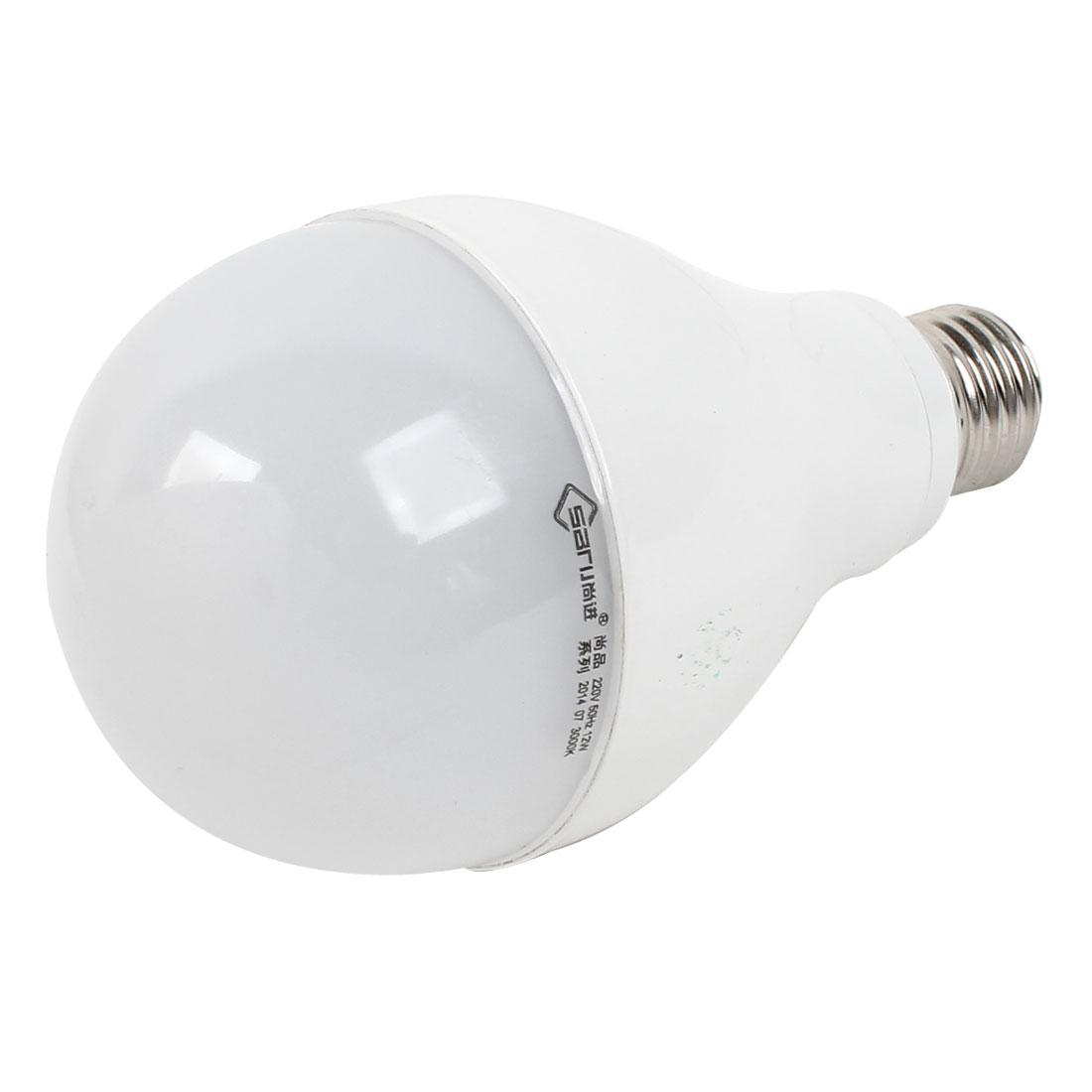 Home E27 Energy Saving LED Globe Ball White Light Lamp Bulb AC 200V-240V 12W