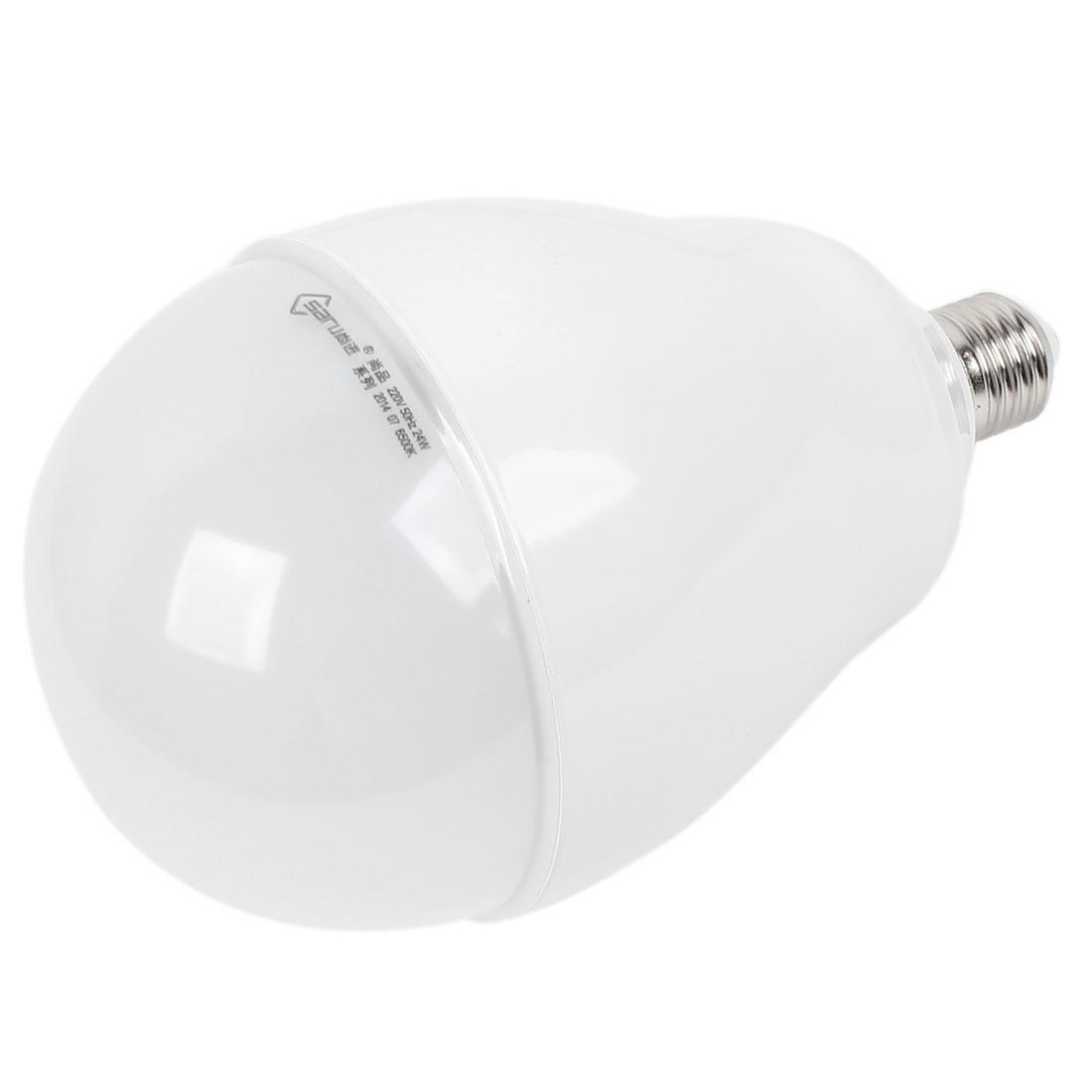 Home E27 Energy Saving LED Globe Ball White Light Lamp Bulb AC 200V-240V 24W