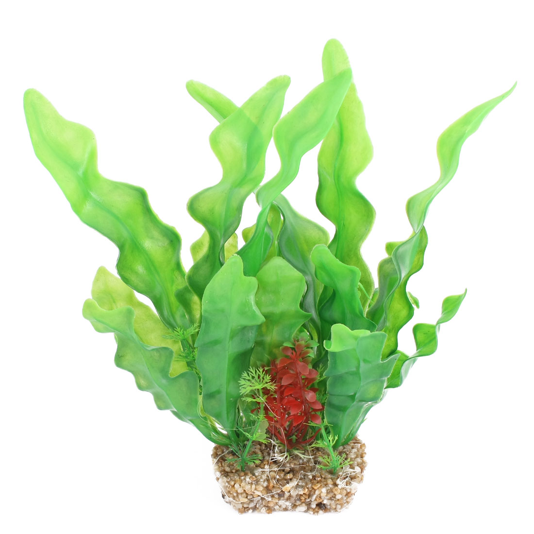 "Fish Tank Ornament Simulation Green Red Aquatic Grass 9.6"" Height"