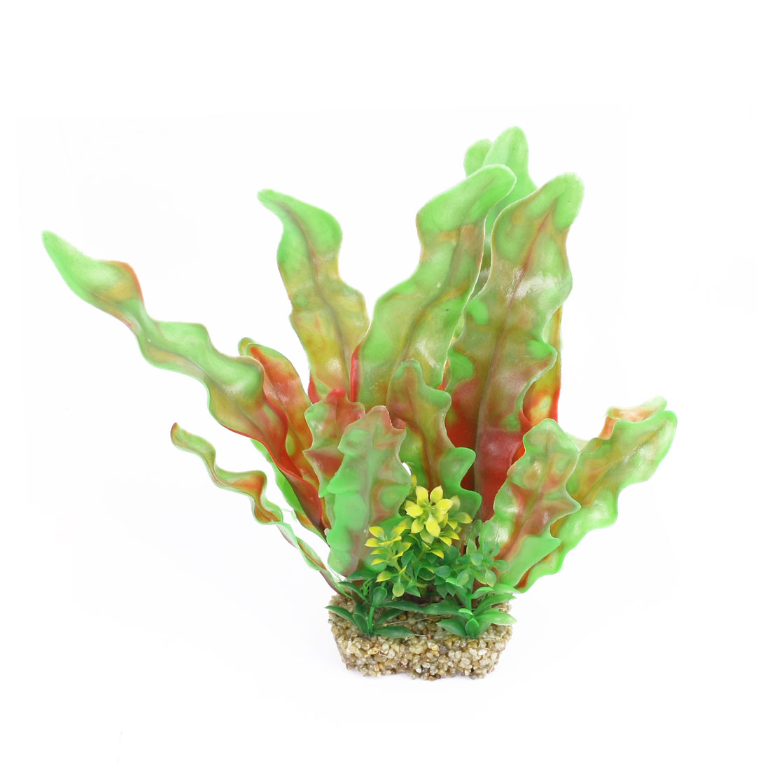 "Fish Tank Decorative Artificial Water Grass Green Red 9.4"" Height"