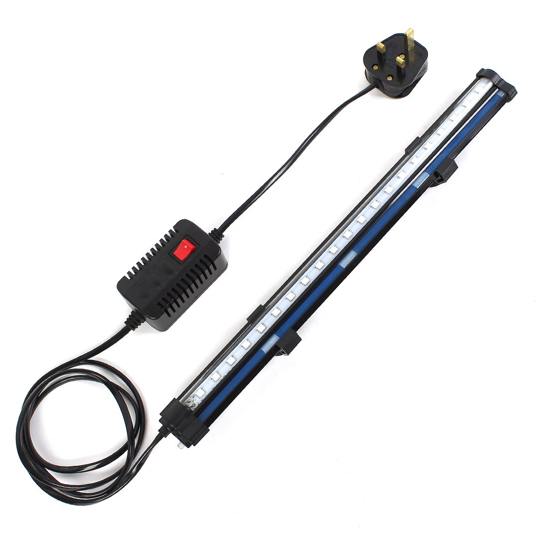 UK Plug AC 220-240V Blue Light 21 SMD LEDs Lighting Lamp w Air Stone