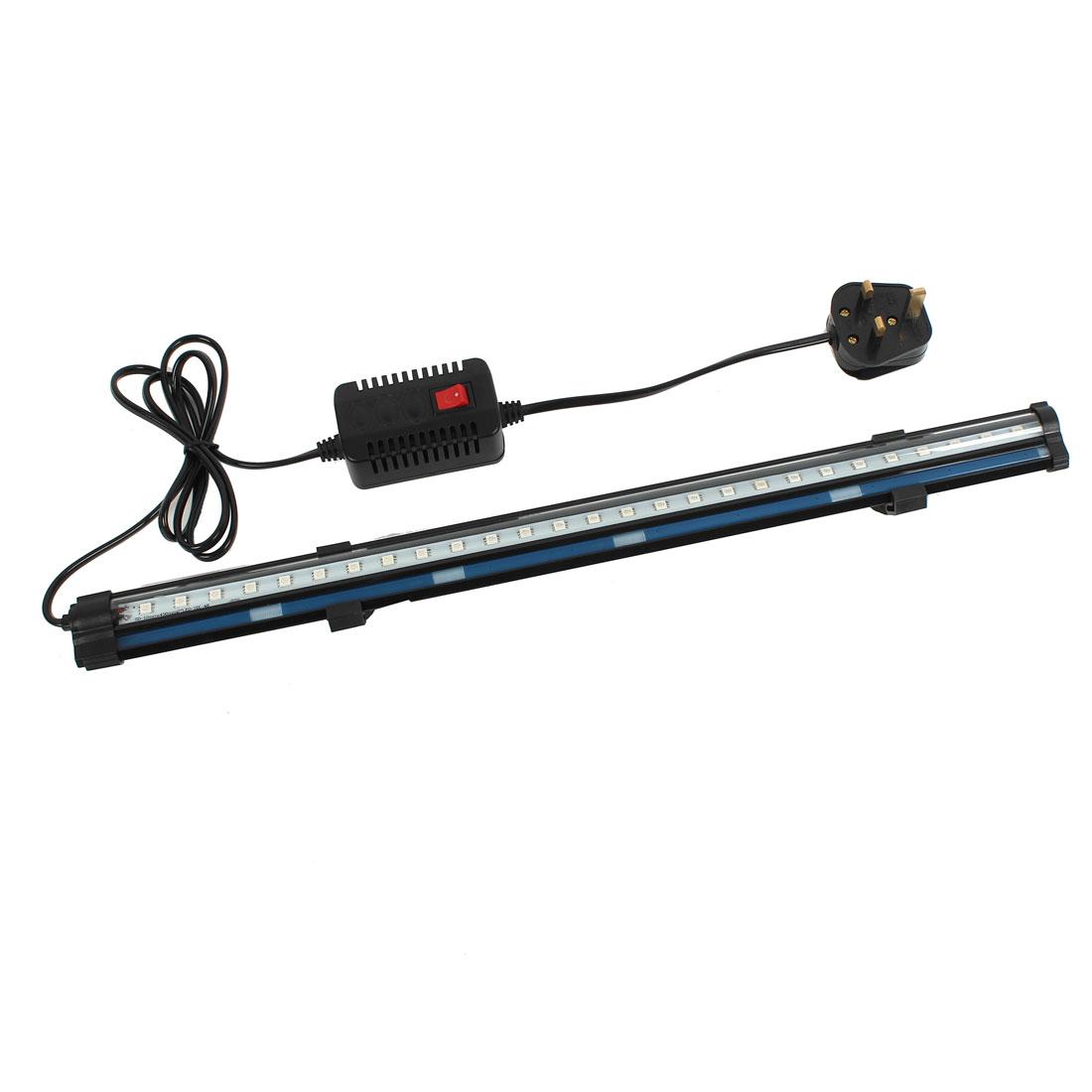 UK Plug AC 220V - 240V Air Stone Aquarium Suction Cup Red SMD 27 LEDs Lamp