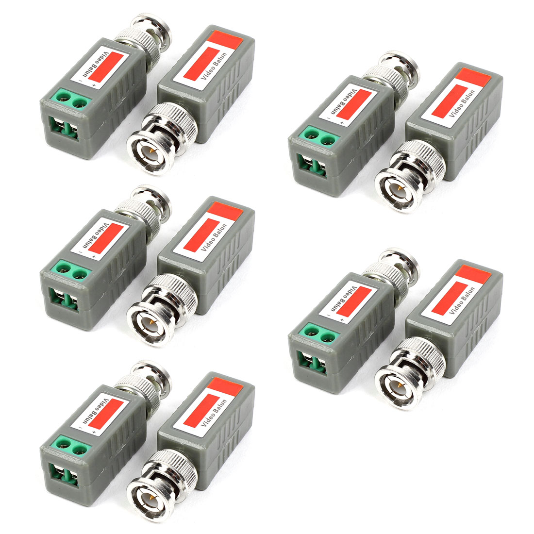 10pcs BNC Male Connector to AV Screw Terminal Adapter Video Balun Transceiver