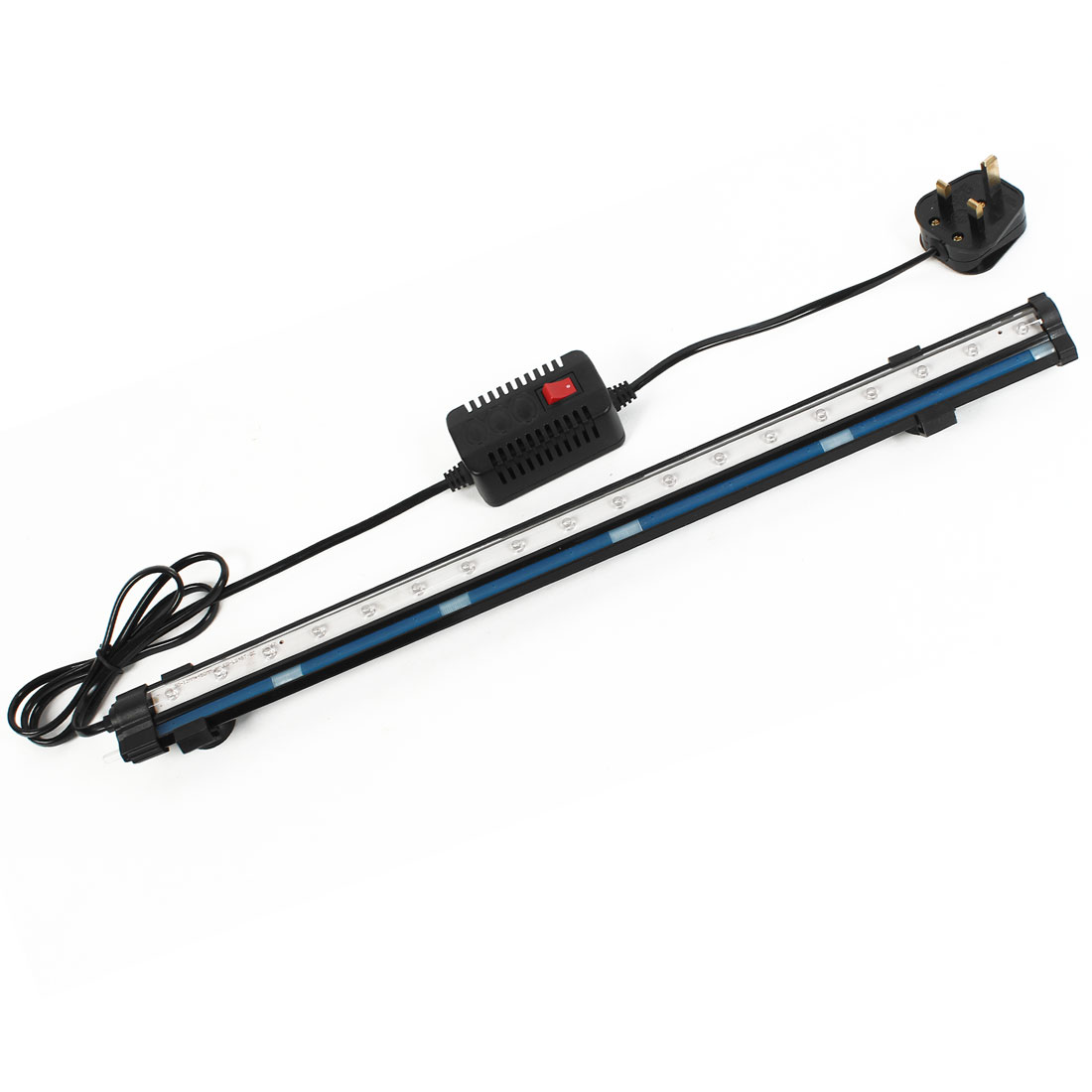 UK Plug AC 220-240V Multicolor 18 LED Aquarium Submersible Lamp Light w Adapter