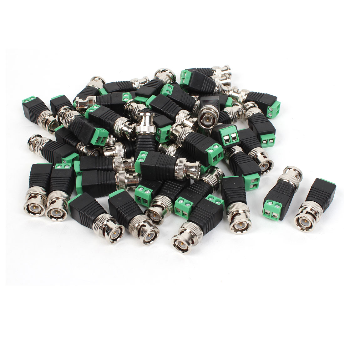 50pcs BNC Male Connector to AV Screw Terminal Adapter Solderless