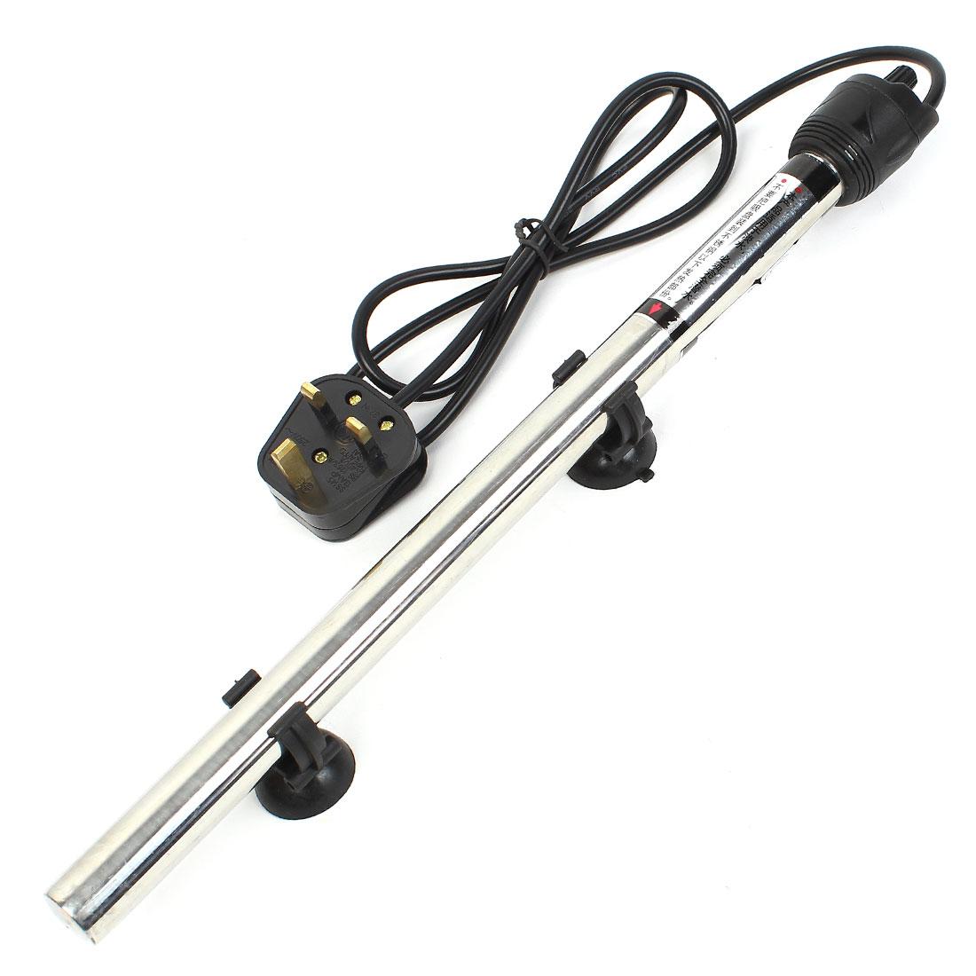 UK Plug AC 220-240V Stainless Steel Submersible Aquarium Heater 500W