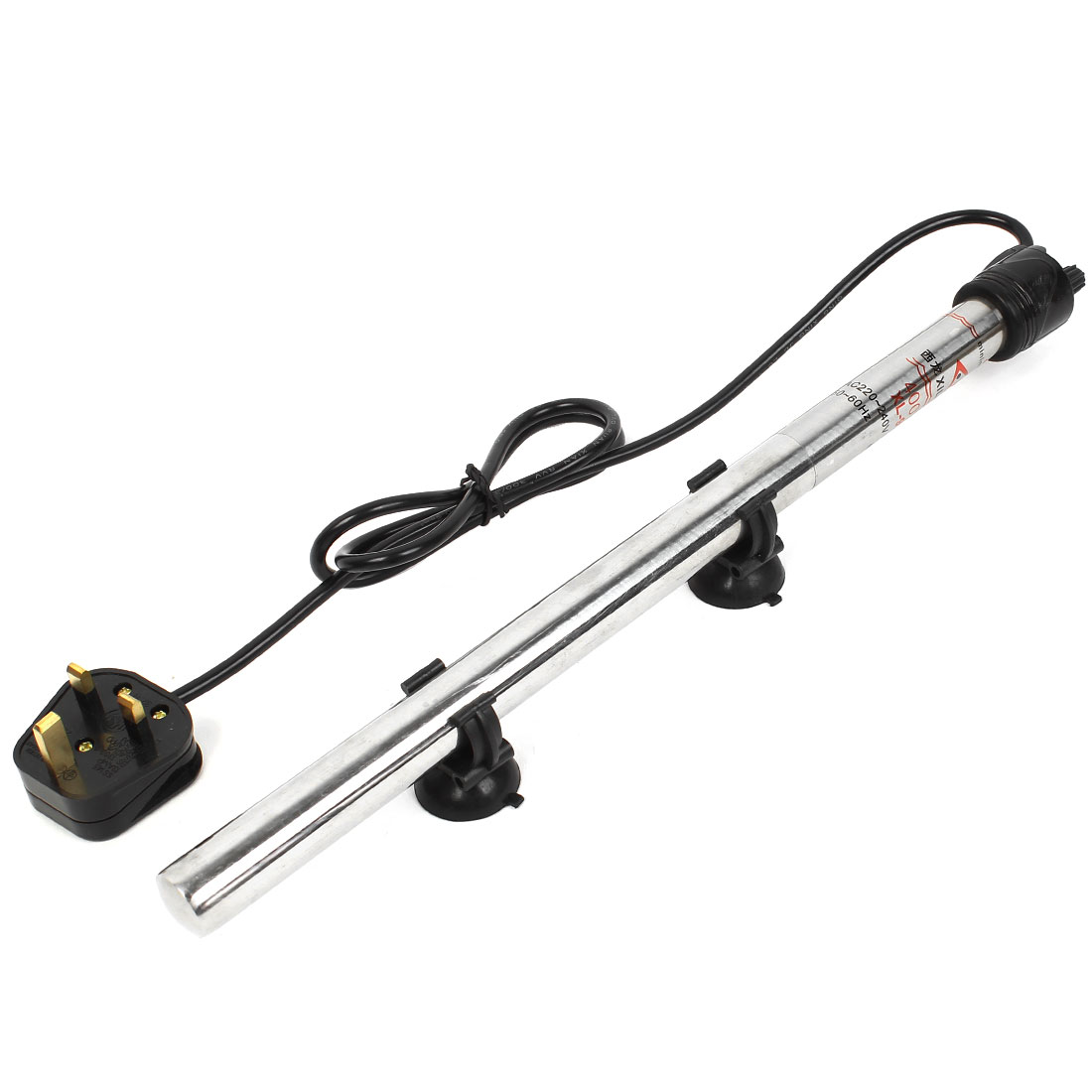UK Plug AC 220-240V Stainless Steel Submersible Aquarium Tube Heater 400W