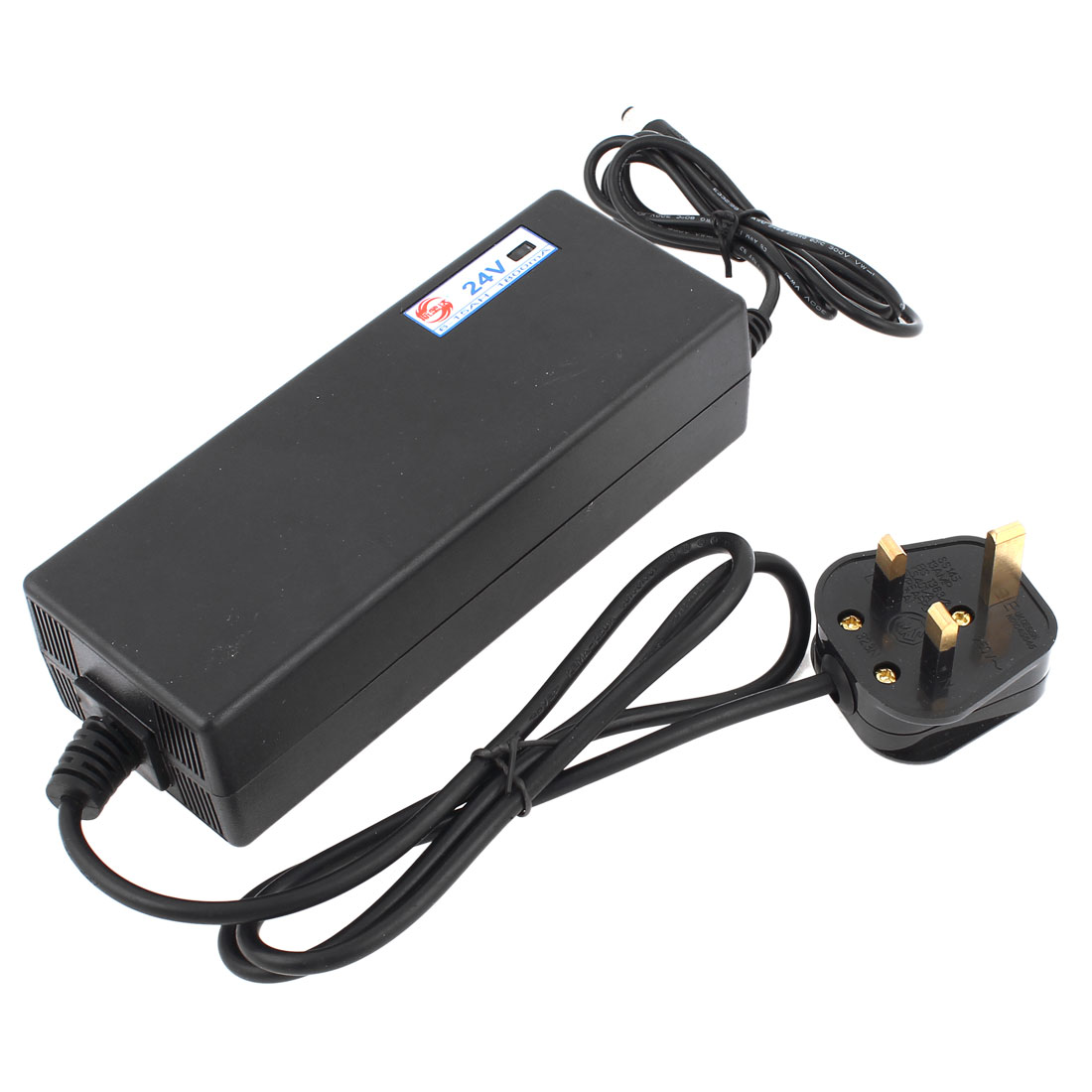 UK Plug DC Socket 24V 6-15AH Electric Bike Scooters Battery Charger AC 170V-240V
