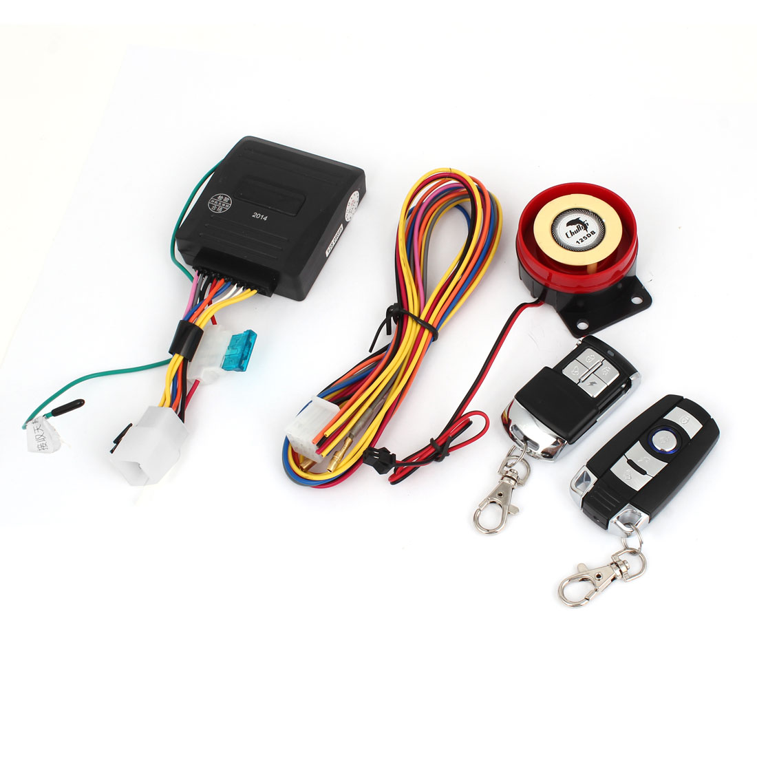 Motorcycle Bike Anti-theft Security Alarm System Immobiliser Remote Engine Start