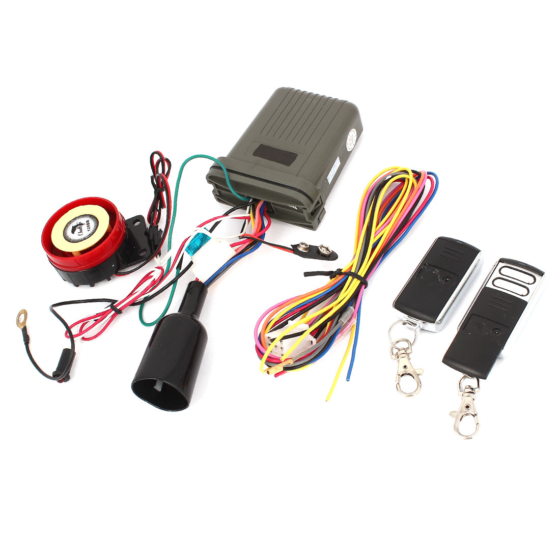 Motorbike Anti-theft Security Alarm System Set w 2 Remote Engine Start