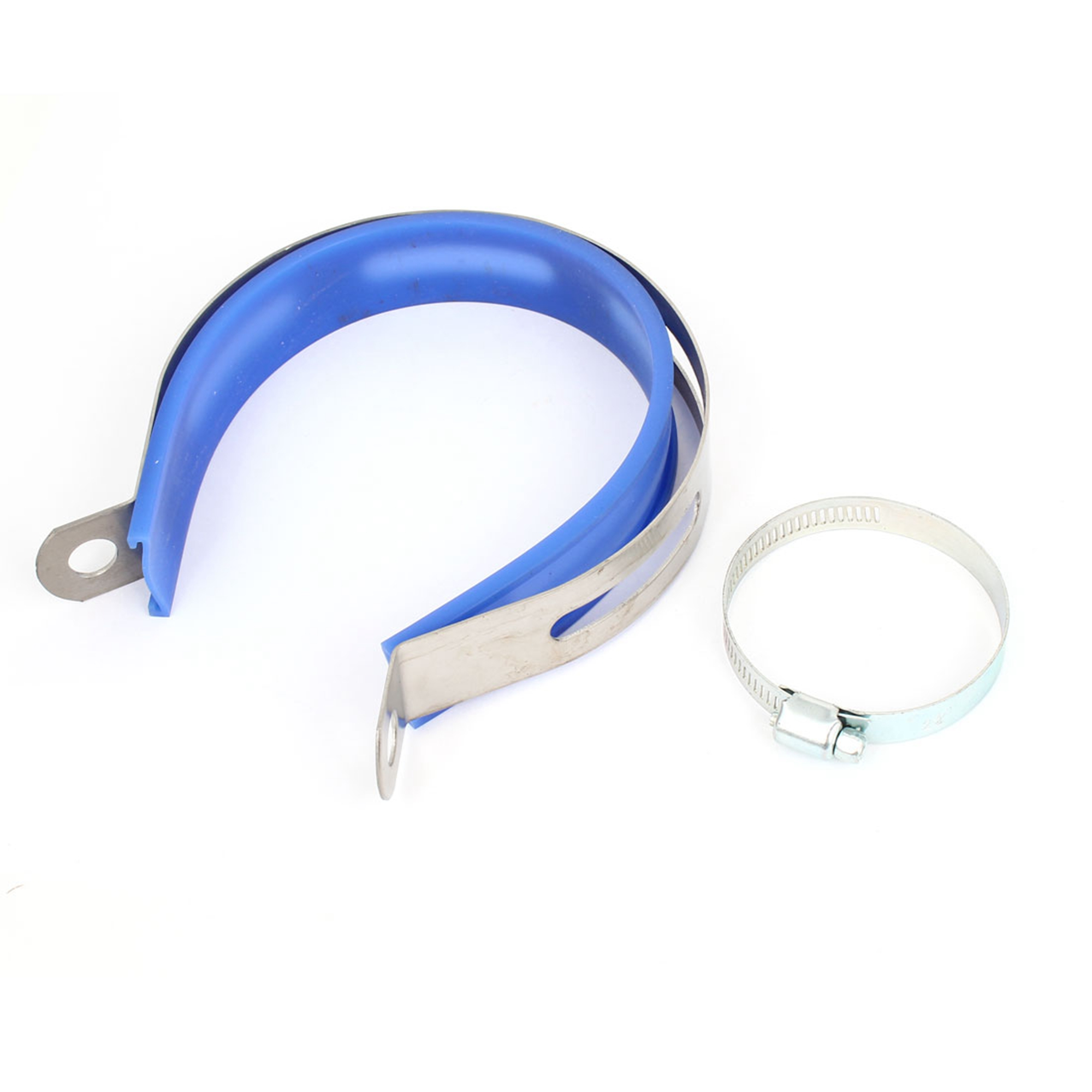 Replacing Exhaust Pipe Clip Fastener Support w 33-57mm Hose Clamp
