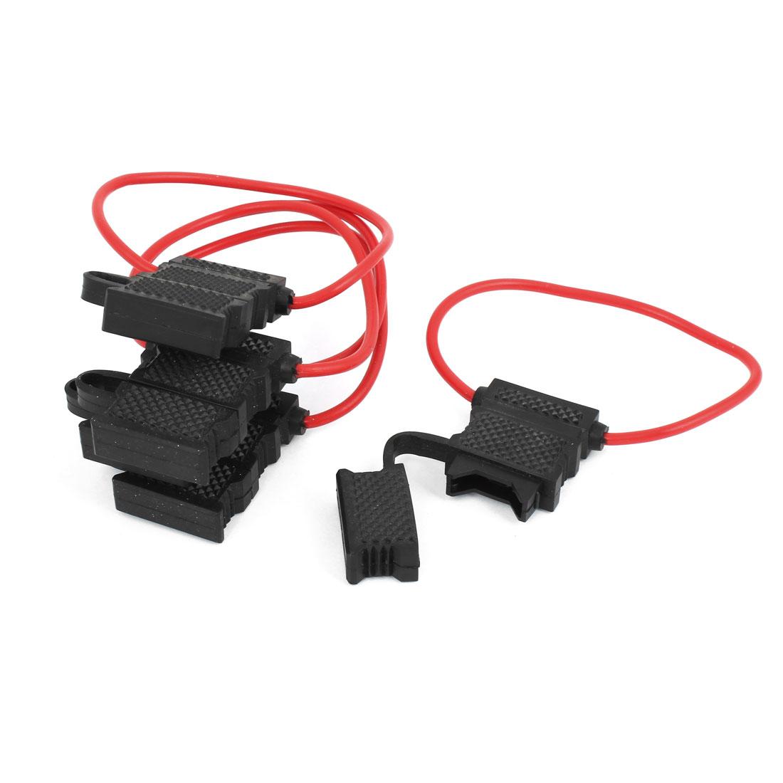 5 Pcs Black Plastic Shell Waterproof ATC Vane Inline Fuse Holder