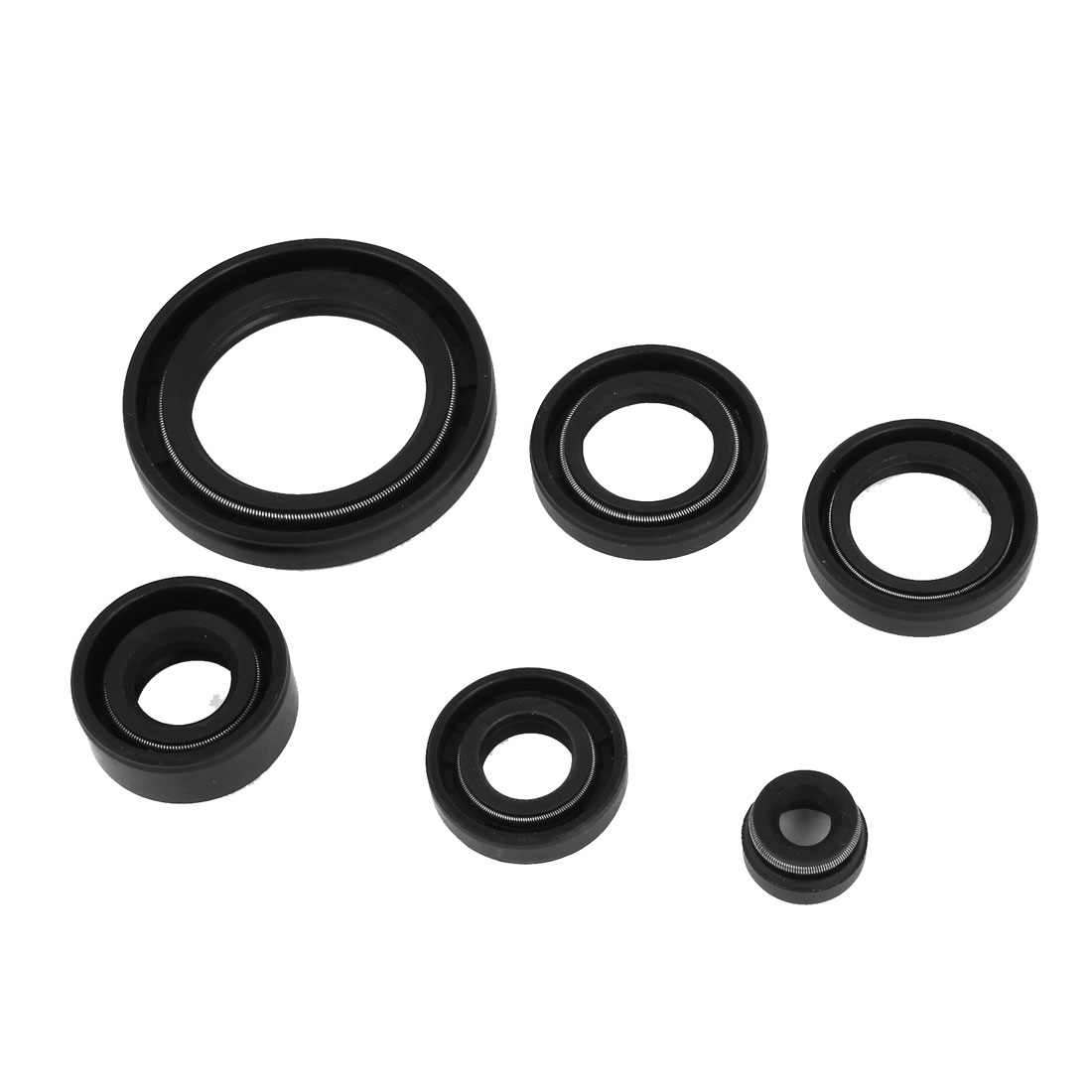 Motorbike 6 in 1 Metric Rotary Shaft TC Oil Seal Set Double Lipped