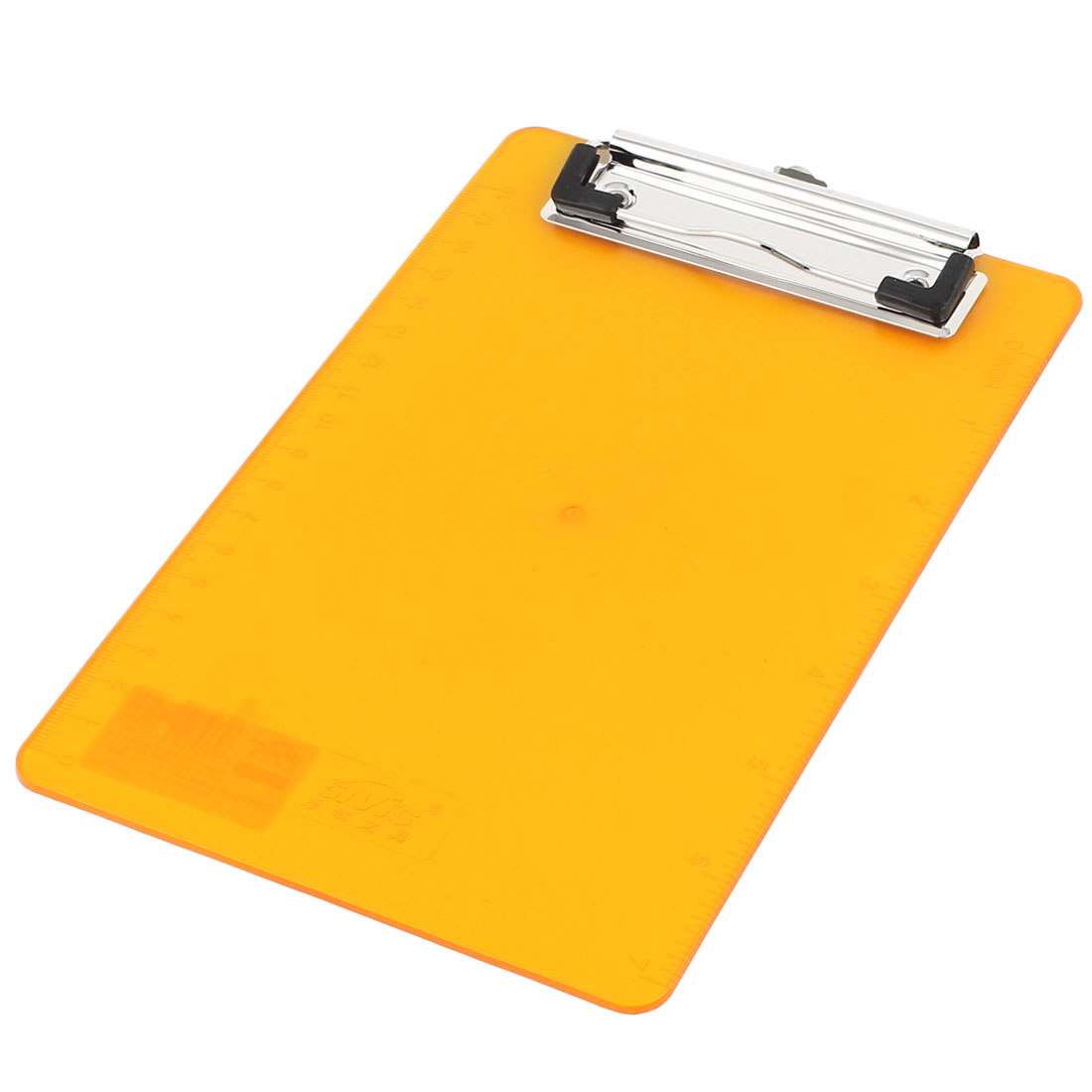 Office File Holding Orange Plastic Clip Board 240 x 140mm for A6 Paper