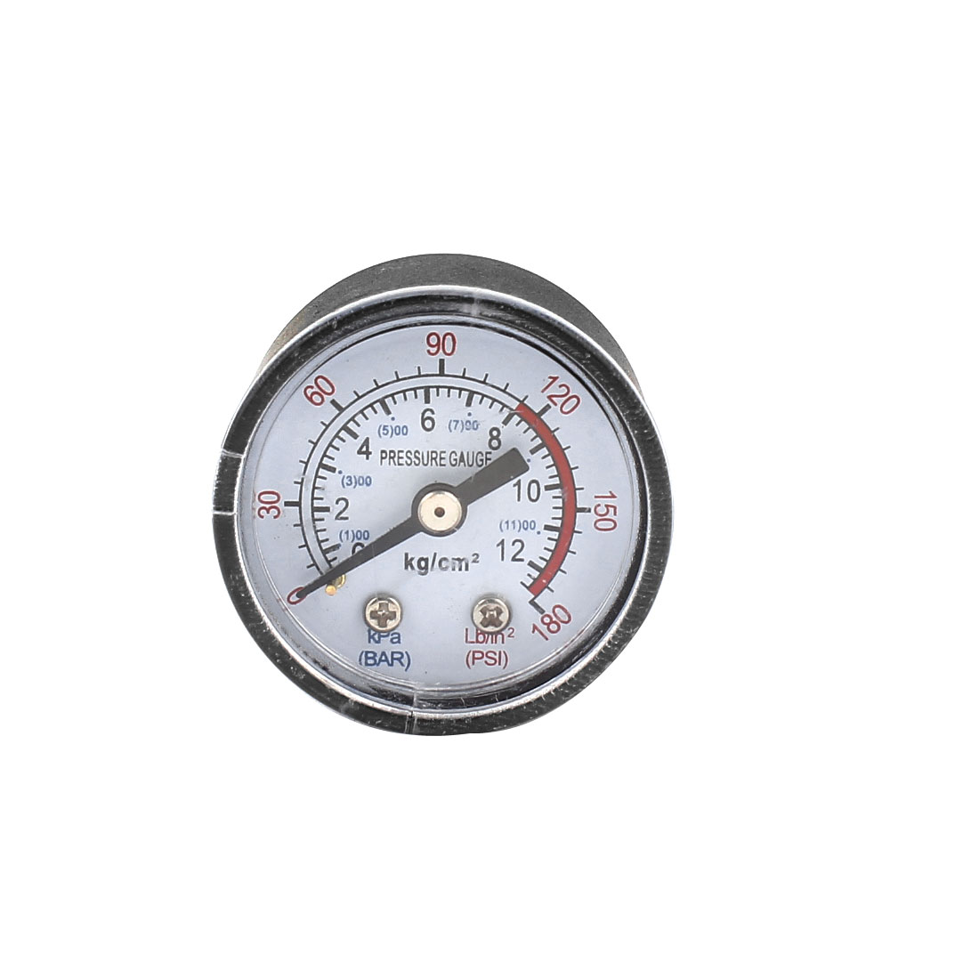 Air Compressor Fittings 10mm Dia Thread 12 Bar Pressure Gauge