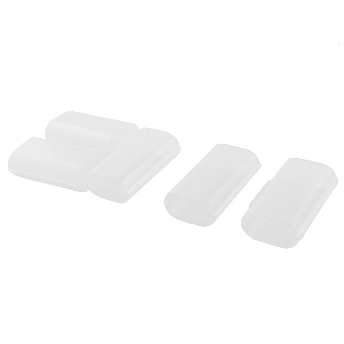 Plastic 2 Capacity AA Battery Holder Case Storage Box Clear 5 Pcs