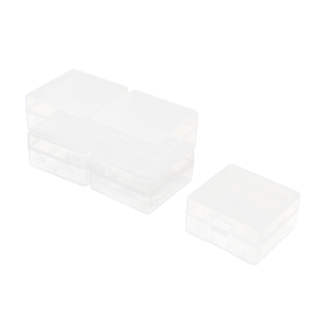 Plastic 2 Capacity C 18350 Battery Holder Case Storage Box Clear 5 Pcs