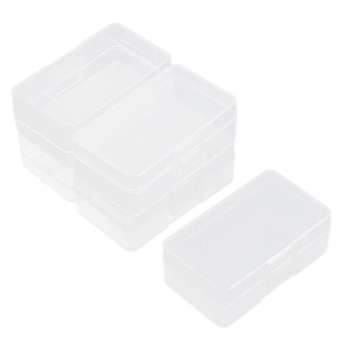 5 Pcs Clear Plastic Storage Box Case Holder for 1 x 9V A Type Batteries