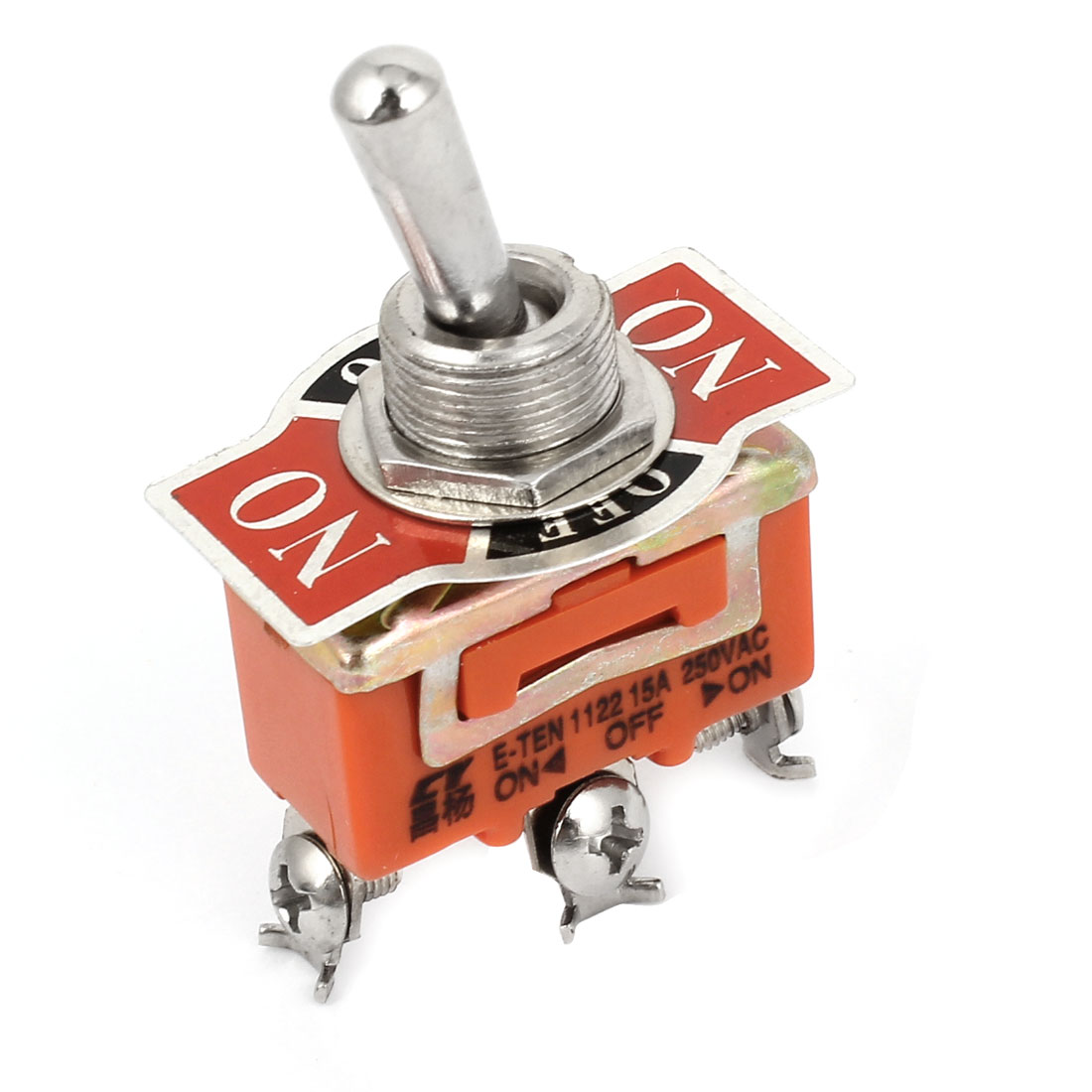 AC 250V 15A SPDT 3 Pin ON/OFF/ON Latching Control Toggle Switches