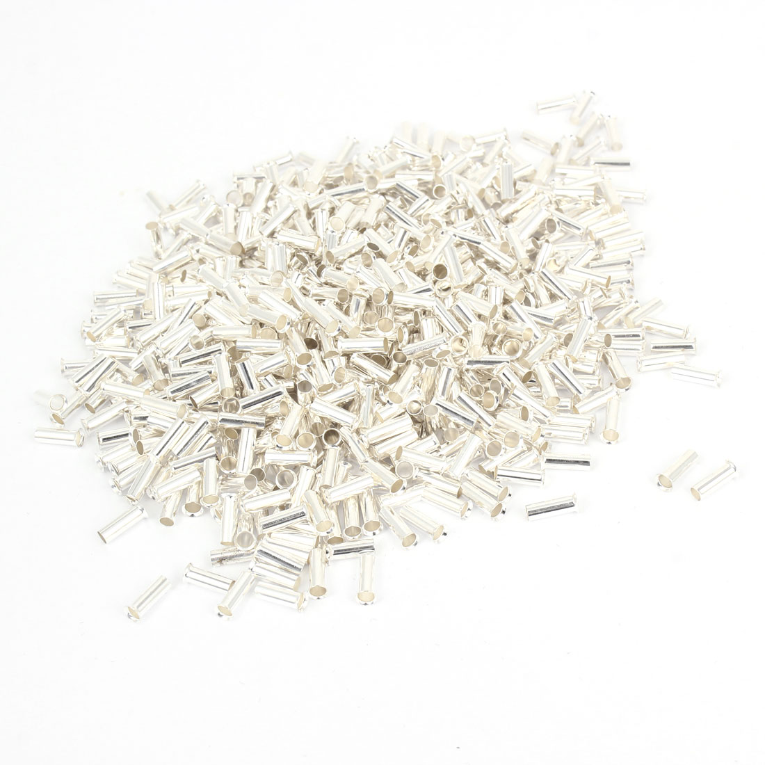 750pcs Uninsulated Wire Ferrules EN2512 for 14AWG 2.5mm Square Cable