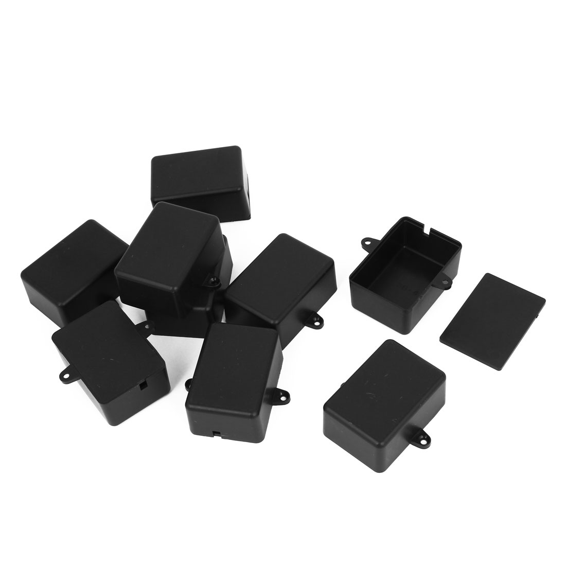 9pcs Surface Mounted Plastic Sealed Electric Junction Box Case Black 52mmx37mmx23mm