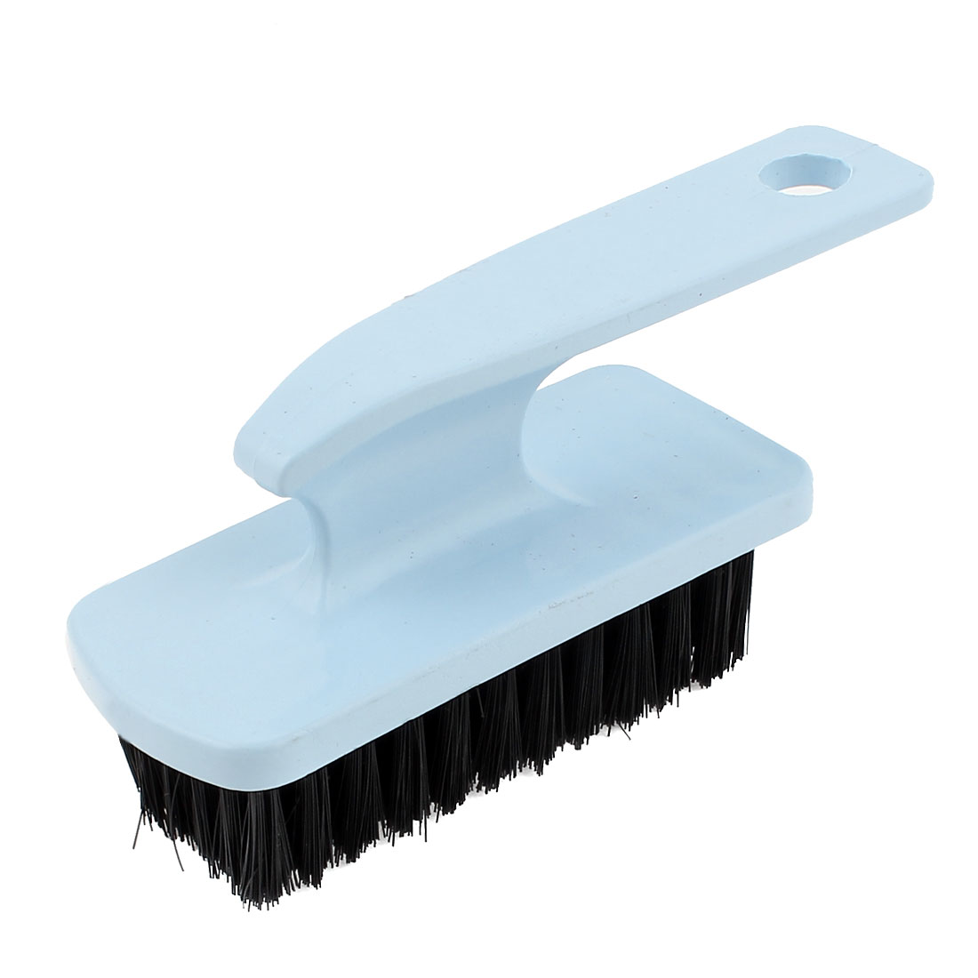 Home Clothes Shoes Blue Plastic Handle Wash Clean Scrubbing Brush