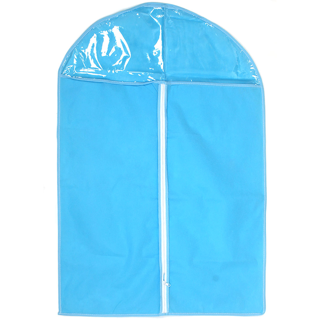 Household Blue Clear Non-woven Breathable Garment Suit Dress Cover Bag 83 x 57cm